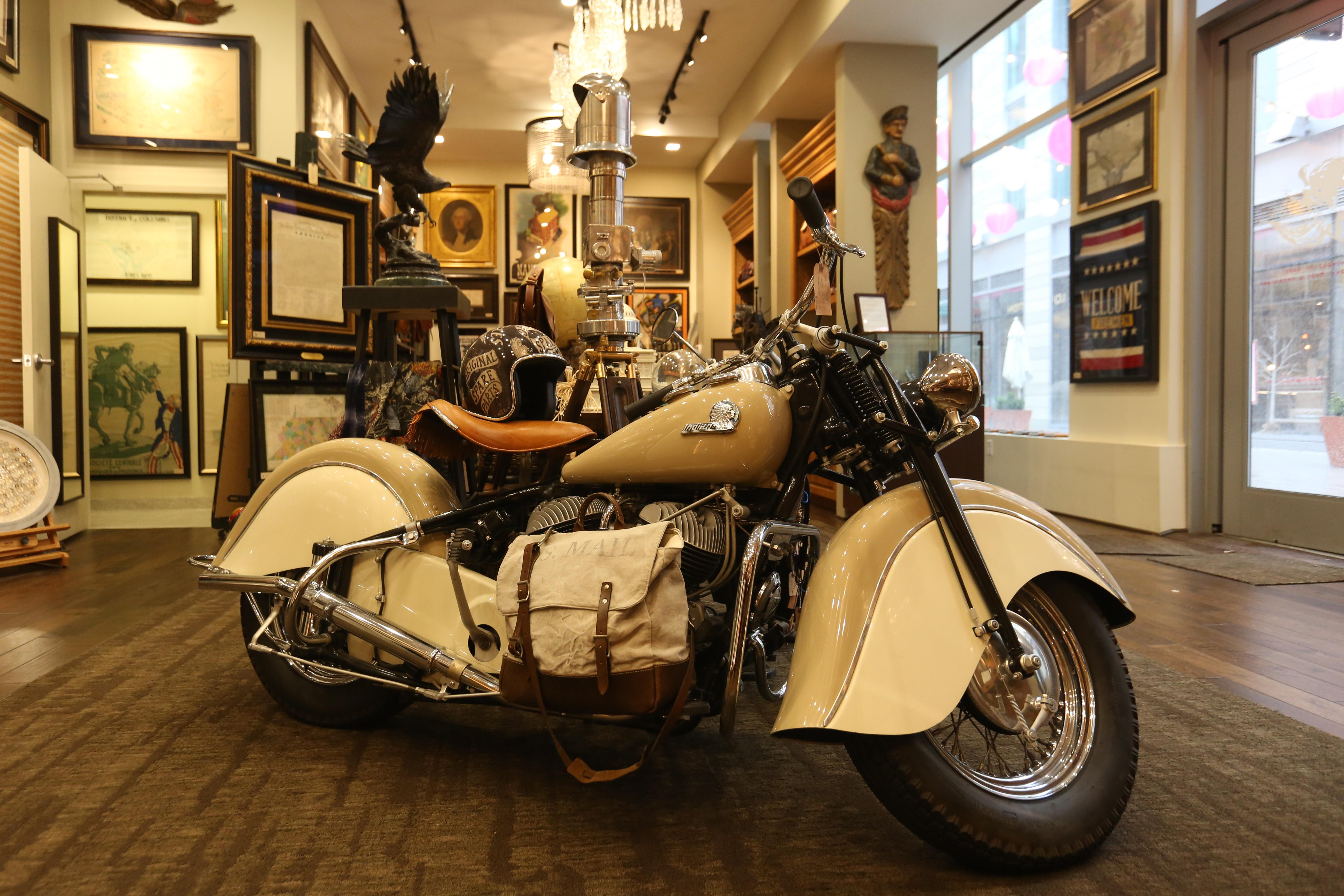 Restored 1946 Indian Chief motorcycle - $65,000, available at The Great Republic. (Amanda Andrade-Rhoades/DC Refined)