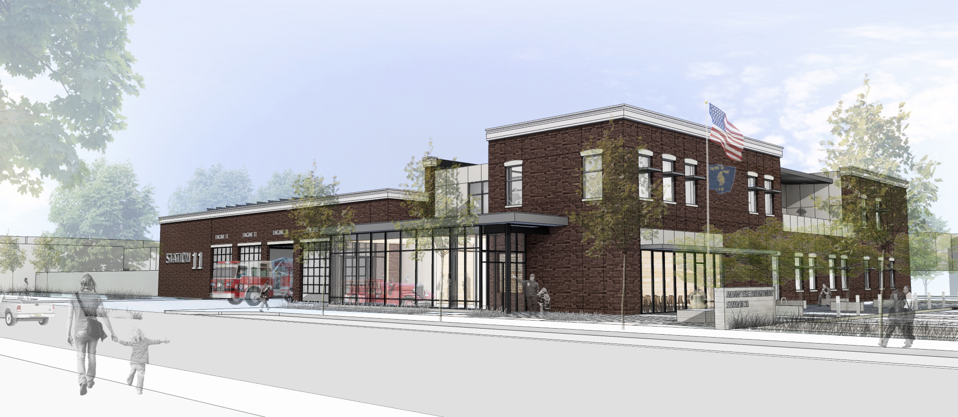 Artist rendering of the new Station 11 under construction in Albany, Ore. (courtesy Albany Fire Department)