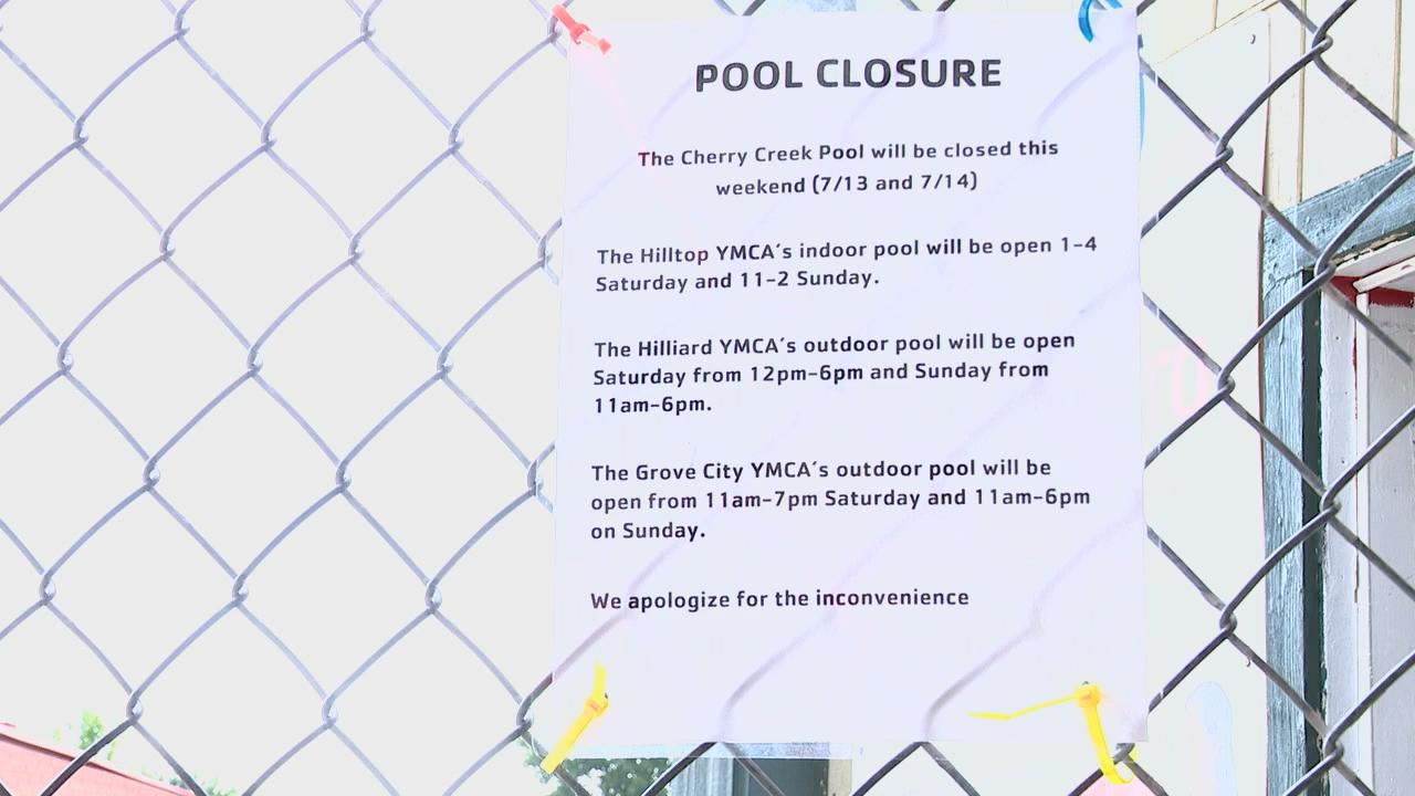 YMCA's Cherry Creek pool will be closed during the weekend of July 13th and 14th because of a lifeguard shortage. (WSYX/WTTE)<p></p>