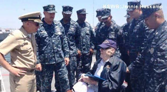 Bud talked with all of them. Every one of them walked up and shook his hand tahnked him for his service.
