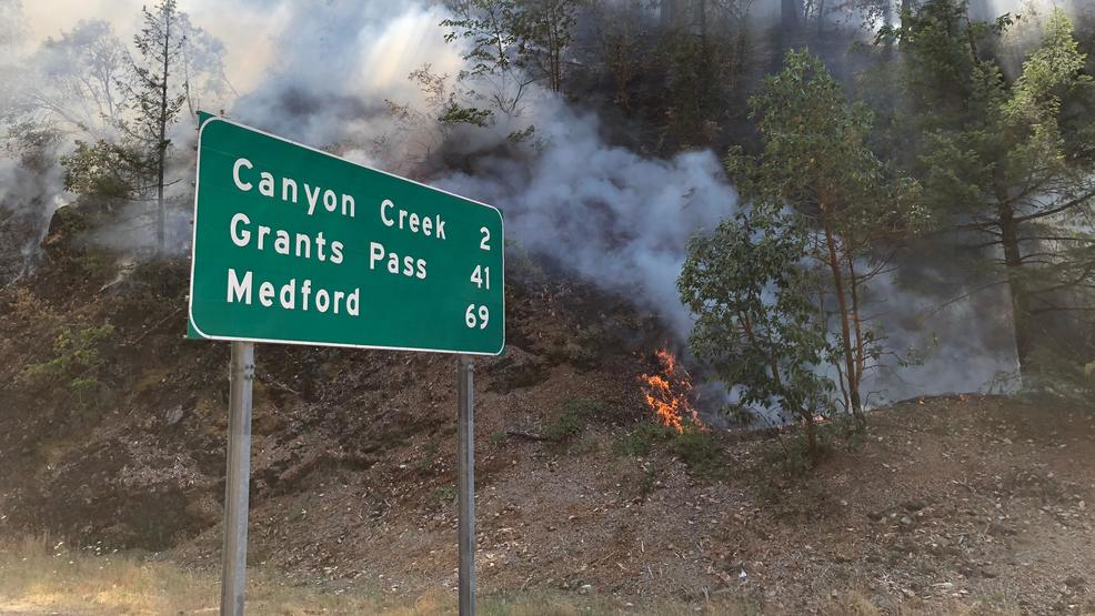 Photos show how close Milepost 97 Fire has burned to Interstate 5 in Oregon