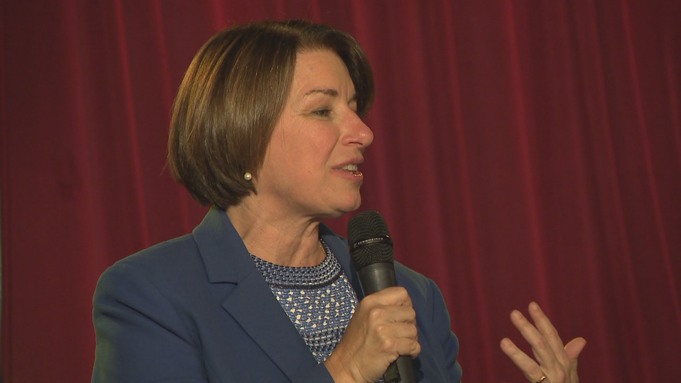 Democratic presidential candidate Amy Klobuchar makes a stop in Little Rock