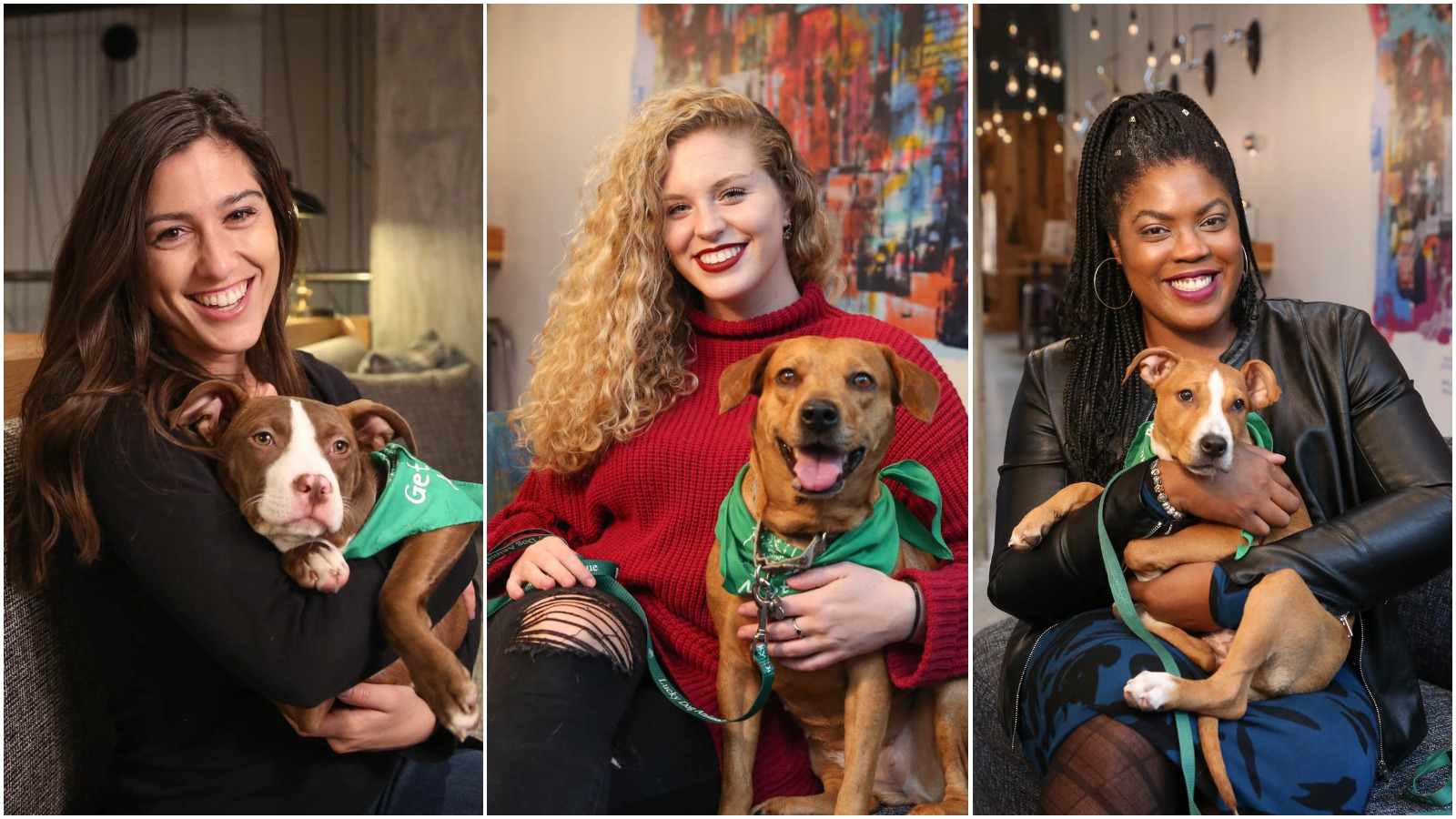 Most of the dogs featured in the photo gallery are available for adoption (some were adopted over the weekend) through Lucky Dog Animal Rescue (http://www.luckydoganimalrescue.org) and all the women featured are single ... you're welcome! (Image: Amanda Andrade-Rhoades/ DC Refined)
