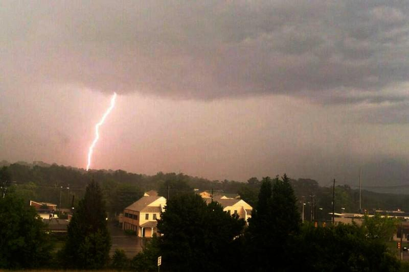 Lightning near Irondale.