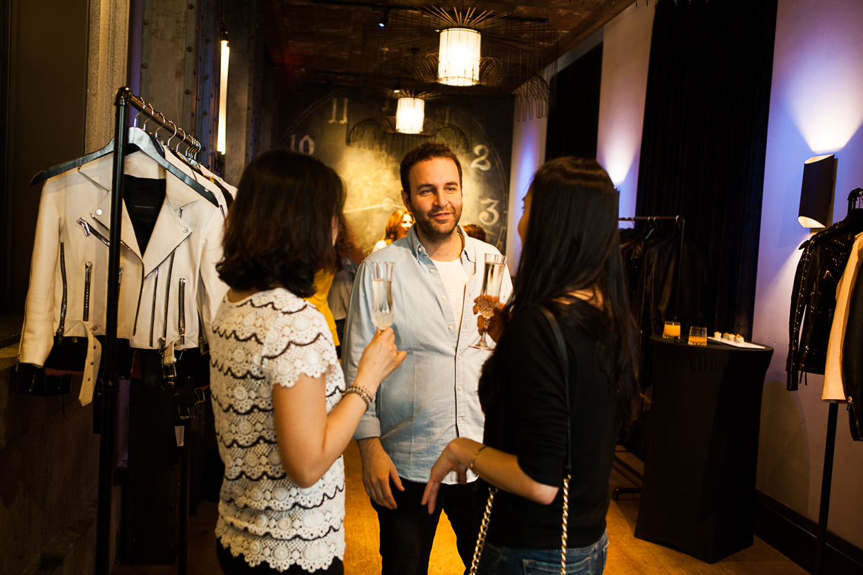 D.C. fashionistas got a little taste of Parisian glamour thanks to a Nour Hammour trunk show at Dirty Habit, hosted by Moki Media. 75 guests showed up Saturday morning to sip their mimosas and nibble on steak frites and shrimp summer rolls while shopping the latest collection from Paris-based leather jacket brand Nour Hammour. Designer Nour happens to be a D.C. native herself! The embellished leather jackets have been spotted on the likes of Gigi Hadid, Taylor Hill, Kendall Jenner and many others. While the sophisticated downtown chic brand focuses on leather jackets, they do also make leather leggings, skirts and dresses. (Image: Jay Snap/LaDexon Photographie)
