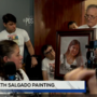 Artist gifts painting of homicide victim Elizabeth Salgado to her family