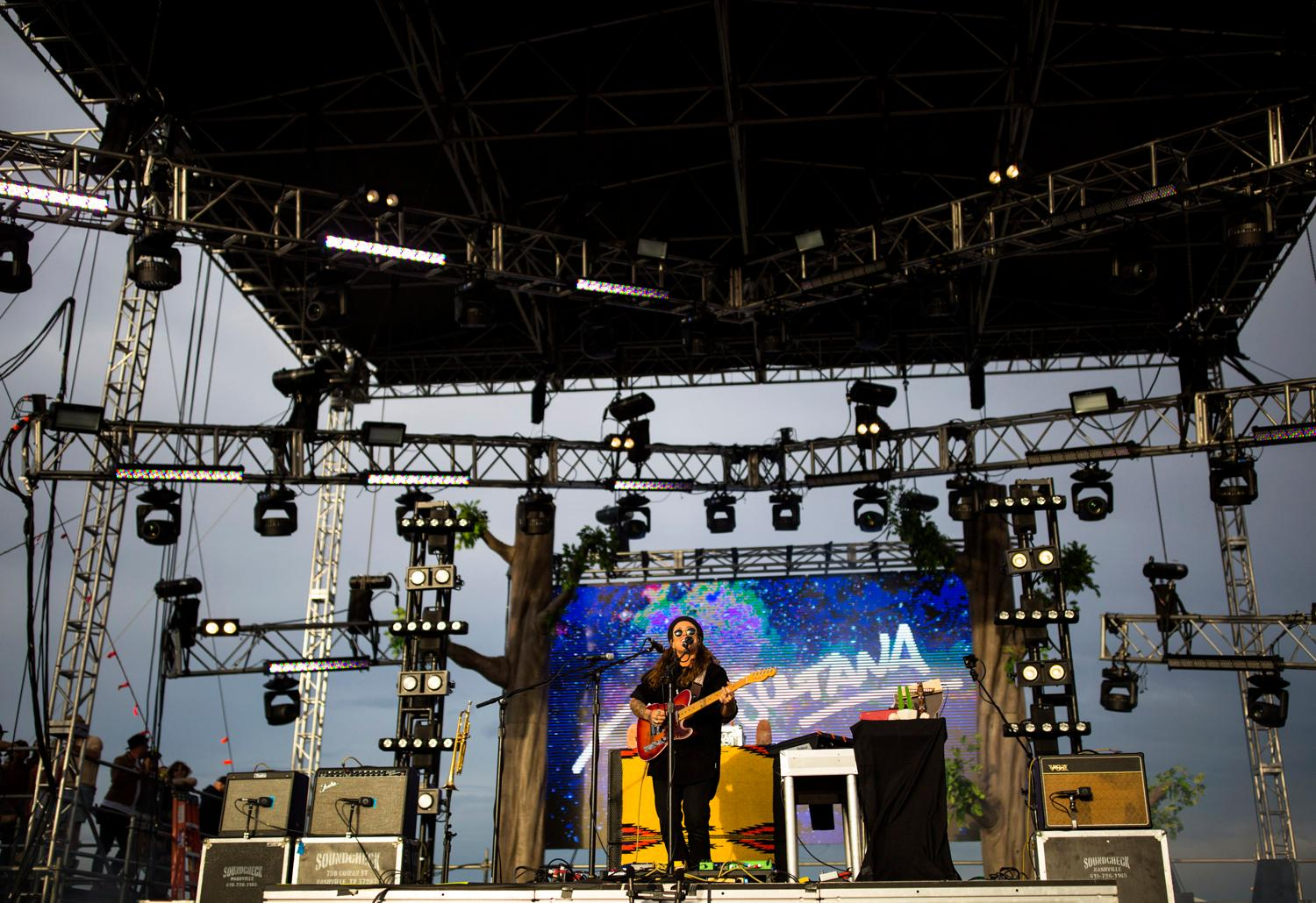 Tash Sultana performed on the first day of the annual Sasquatch! Music Festival. The three-day festival runs throughout the Memorial Day Weekend, from May 25-27, 2018. (Sy Bean / Seattle Refined)