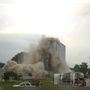 Grain elevator pulled down; residents will be allowed back in their homes