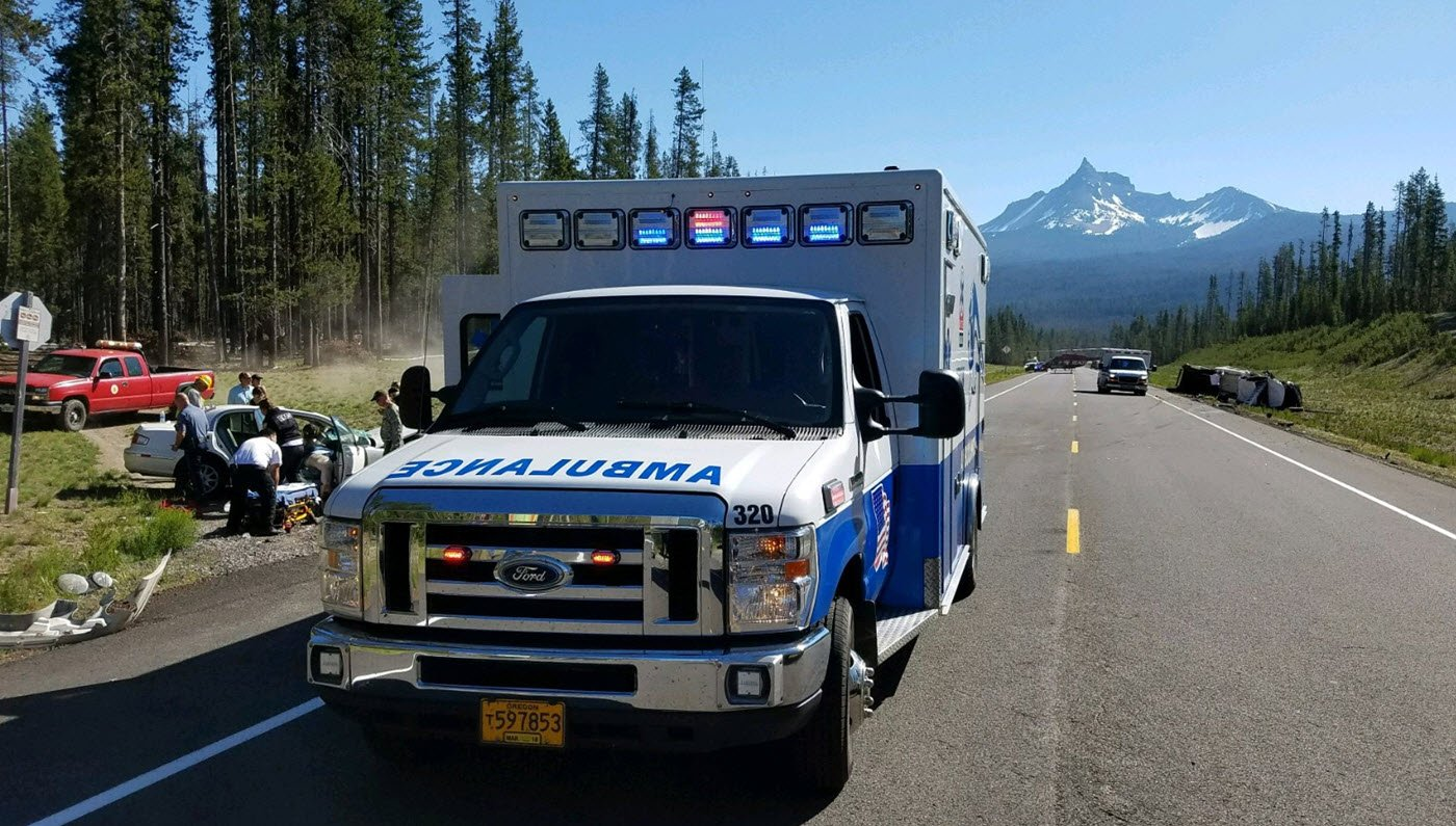 Oregon Highway 230 closed Friday a half mile south of the junction with Highway 138 due to a 3-vehicle crash, Oregon DOT said. (ODOT photo)