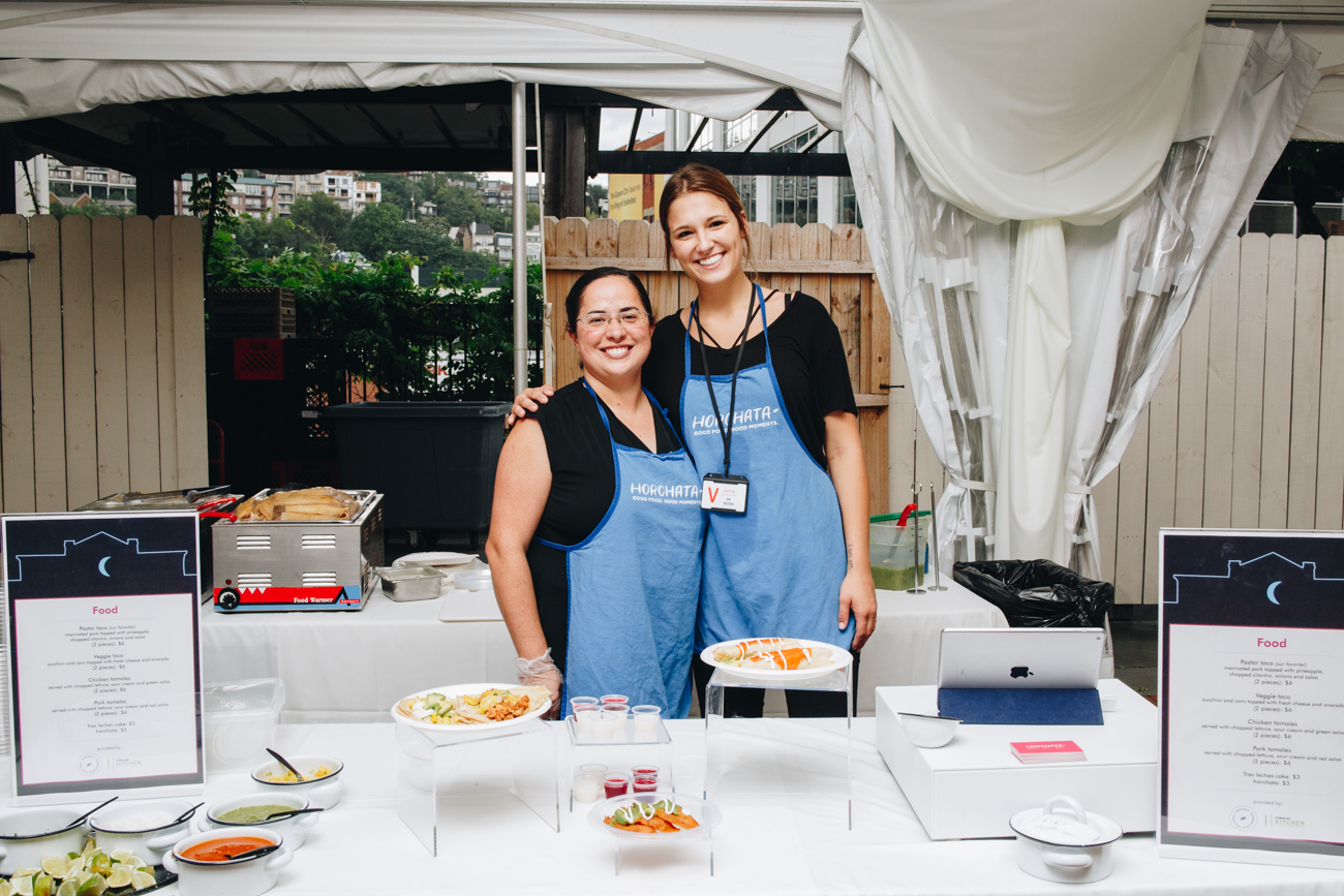 Lety Sanchez and Logan Wells of Horchata Catering / Image: Catherine Viox // Published: 9.7.18