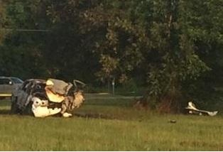 The scene of the wreck that left Dillon officer Jacob Richardson paralyzed. (WPDE file)