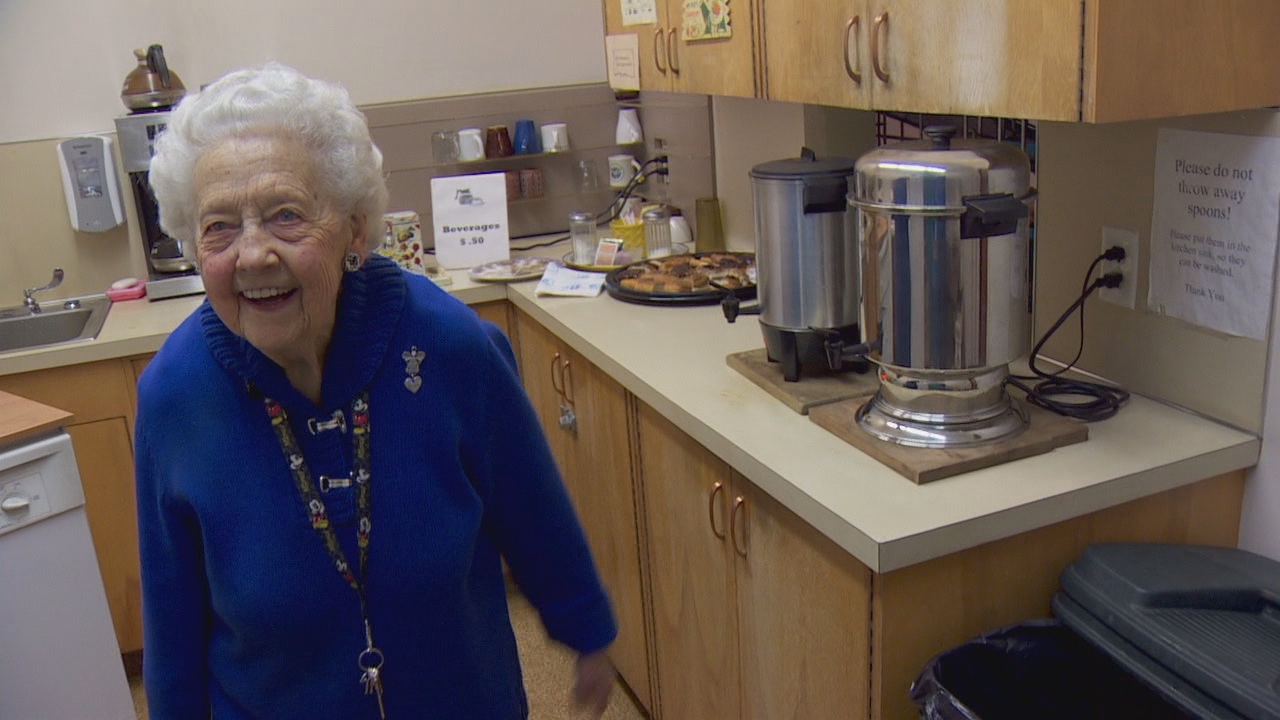 Taking care of the Senior Center's kitchen is just one of a myriad of responsibilities Darlene gladly undertakes.<p></p>
