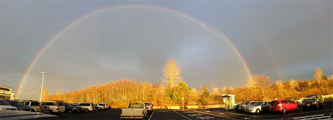 Rainbow over Boeing Lake (Photo Courtesy YouNews contributor: Alpheus)