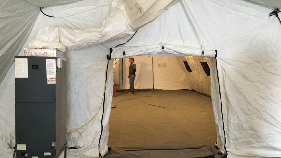 Mobile Medical Shelter : Okaloosa prepares for cold weather with mobile shelters wear