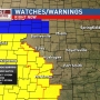 Severe weather watches, warnings issued across Oklahoma