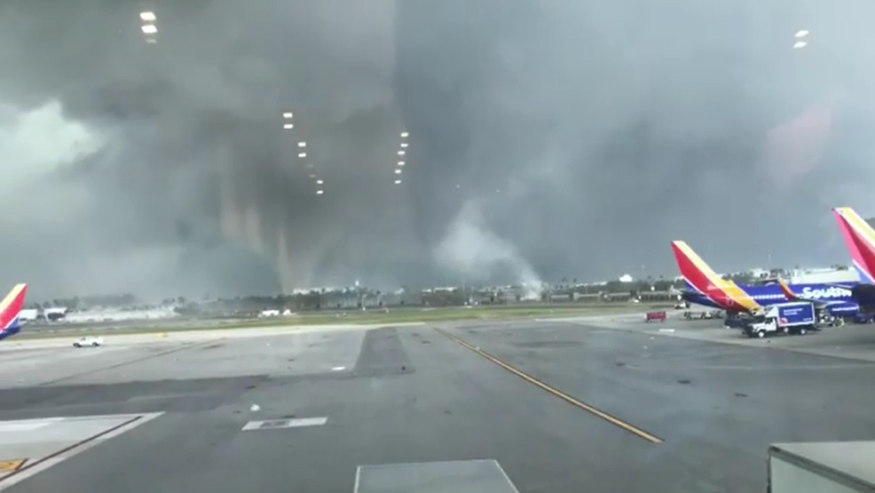 Inside the Storm: Funnel cloud spotted near busy Florida airport