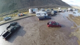 Drone video shows muddy mess along California Highway