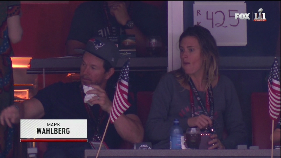 Mark Wahlberg misses the Patriots' epic comeback to take care of his son