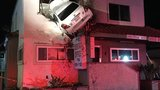 Car crashes into the 2nd floor of a building in California