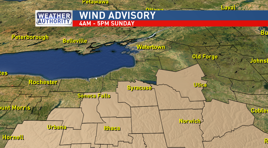 Wind Advisory for Sunday means gusts to be over 40 MPH