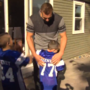 7-year-old boy gets surprise visit from Gronk