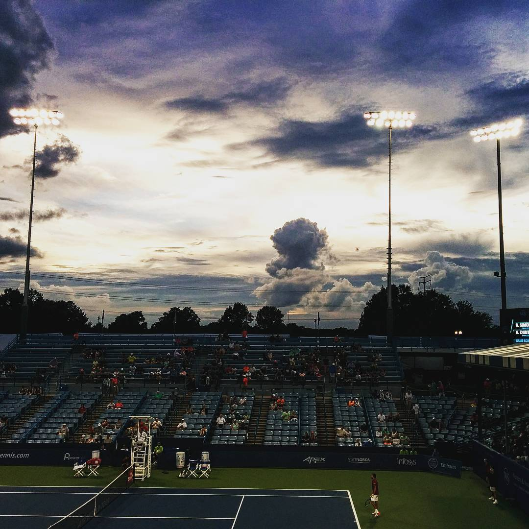 IMAGE: IG user @deboraheo / POST:  Lots of amazing cloud formations tonight; I saw these from the Grandstand at the Western & Southern Open tennis tournament. #cincytennis #westernandsouthernopen #atp #wta