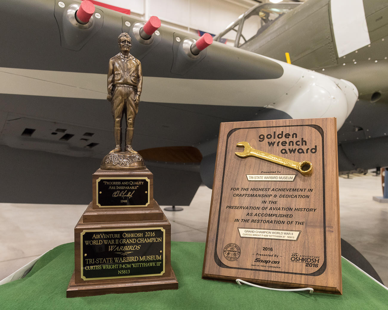 The Warbird Museum has won awards for its preservation and restoration of WWII-era planes. / Image: Phil Armstrong, Cincinnati Refined // Published: 9.6.17
