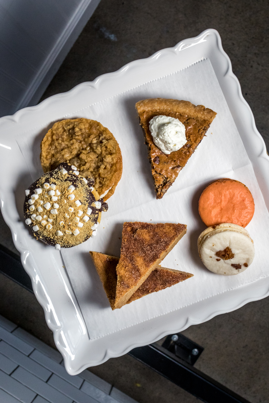 Sweet Bites including Toll House Pie, Churro blondies, Miller's Macaroons, and whoopie pies / Image: Catherine Viox{ }// Published: 7.3.20