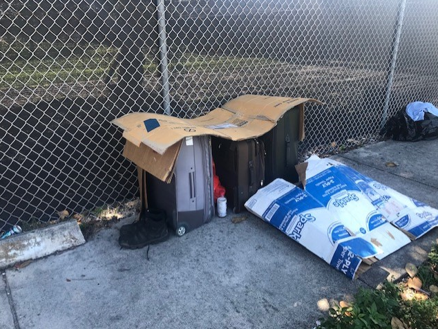 Neighbors recoil as homeless encampment appears on sidewalk in Pleasant City (WPEC)