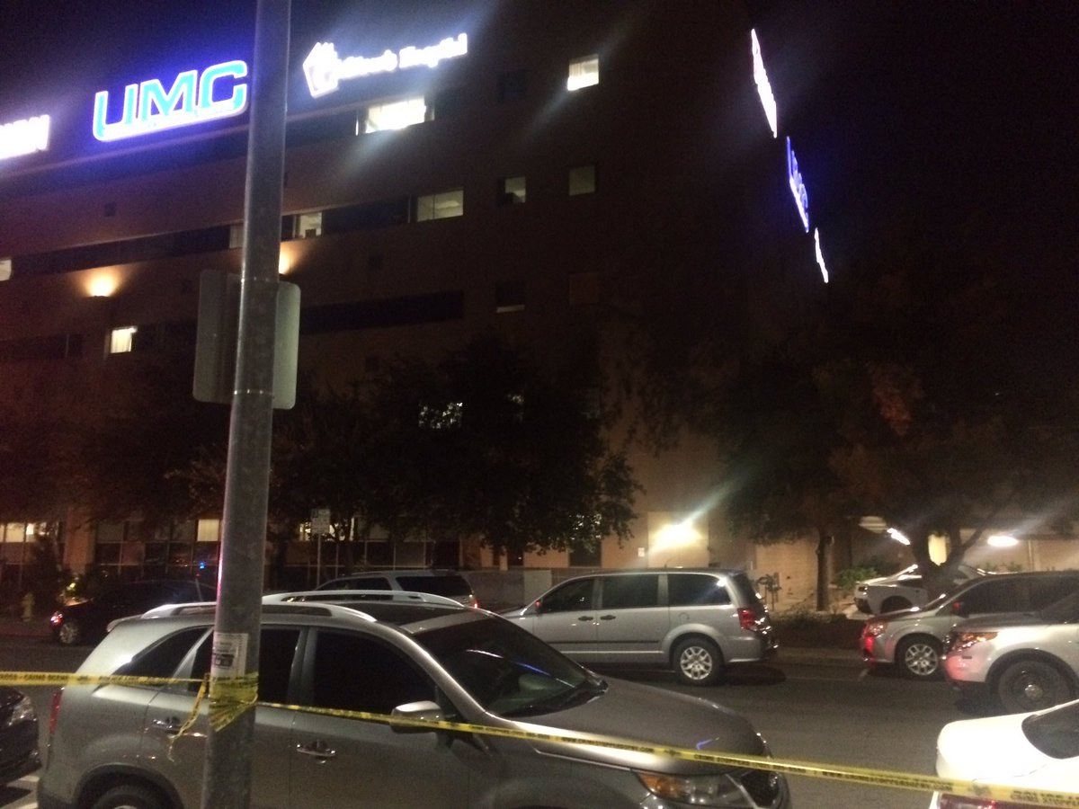 Gut wrenching scene outside UMC hospital as bodies of victims are being put into funeral van. (Antonio Castelan | KSNV)