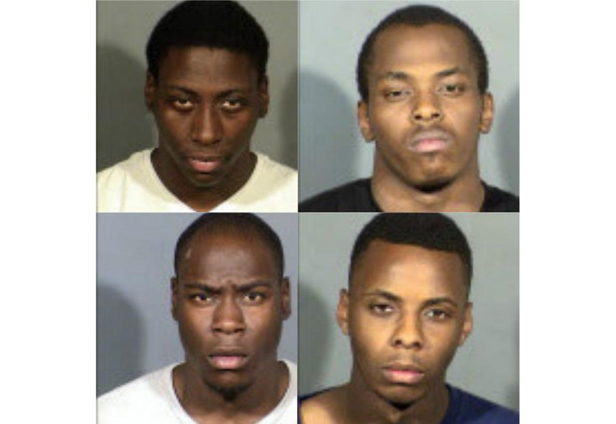 Donnell Talley, 18 (clockwise from top left); Calvin Rembert, 20; Tylon Marshall, 19; Rondall Talley, 18 (LVMPD/KSNV)
