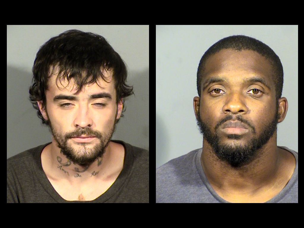 Jonathan Hamm and Issac Bennett were arrested for Grand Larceny Auto and Conspiracy to Commit Grand Larceny Auto (LVMPD)