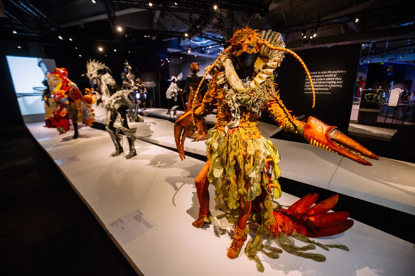 "Open as of July 1, ""The World of WearableArt"" at the EMP Museum fuses art and fashion together, and showcases 32 award-winning garments from the international design competition of the same name held in Wellington, New Zealand every year. The competition challenges designers to ""take art off the wall and adorn [it] onto the human form"". (Image: Joshua Lewis / Seattle Refined)"