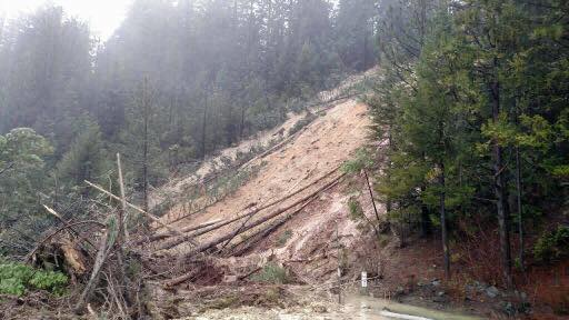 Mudslide shuts down I-80 westbound. (Photo courtesy: CHP)
