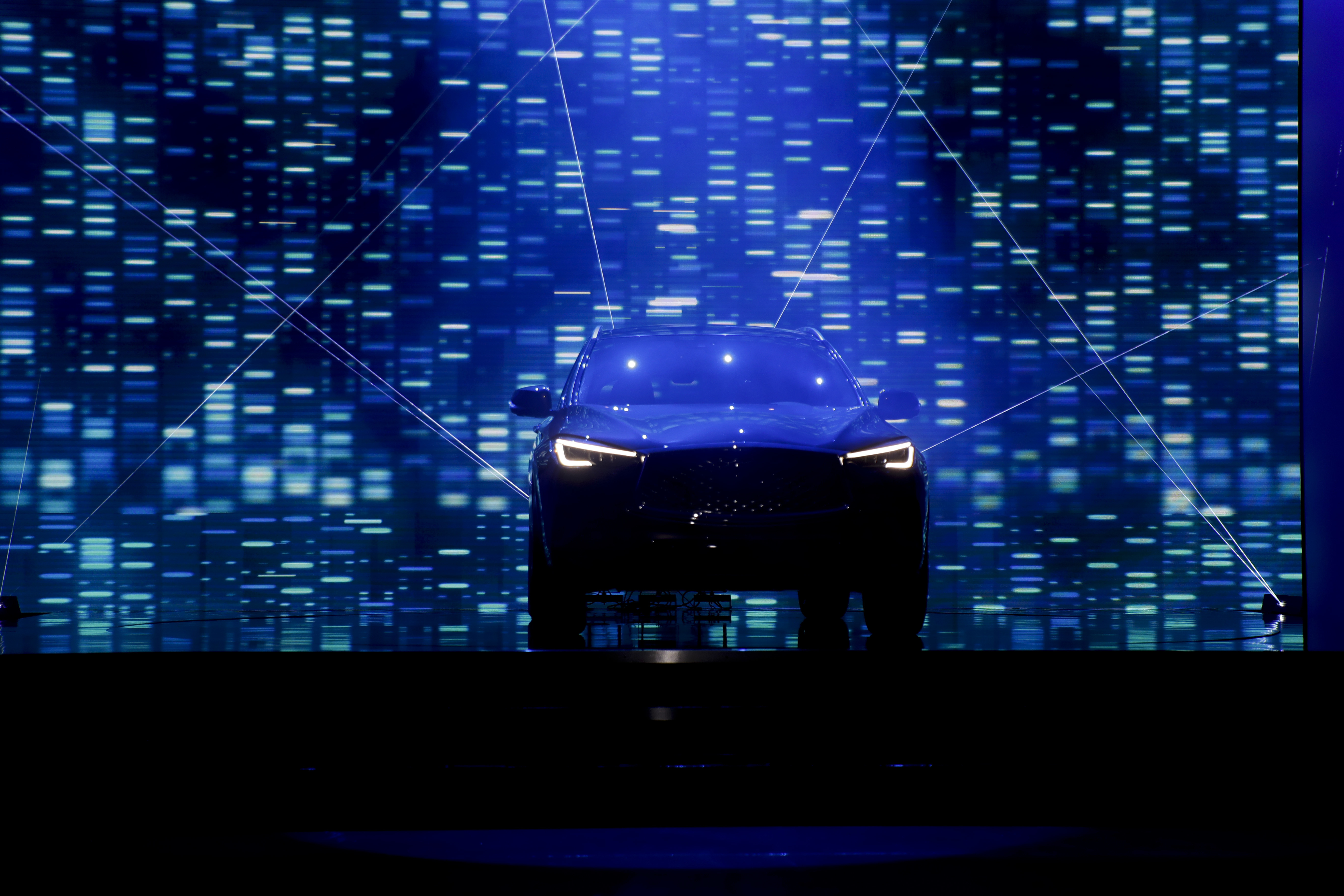 The 2018 Infiniti QX50 is revealed as part of the AutoMobility LA auto show Tuesday, Nov. 28, 2017, in Hawthorne, Calif. (AP Photo/Chris Carlson)