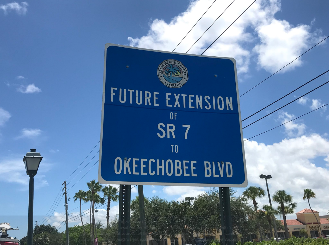 West Palm Beach hopeful over permit withdrawal for State Road 7 Extension (WPEC)