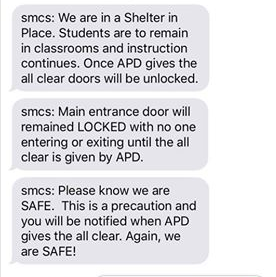 St. Mary's Cathedral School is sheltering in place while the situation is ongoing. (Screenshot sent by a parent)<p></p>