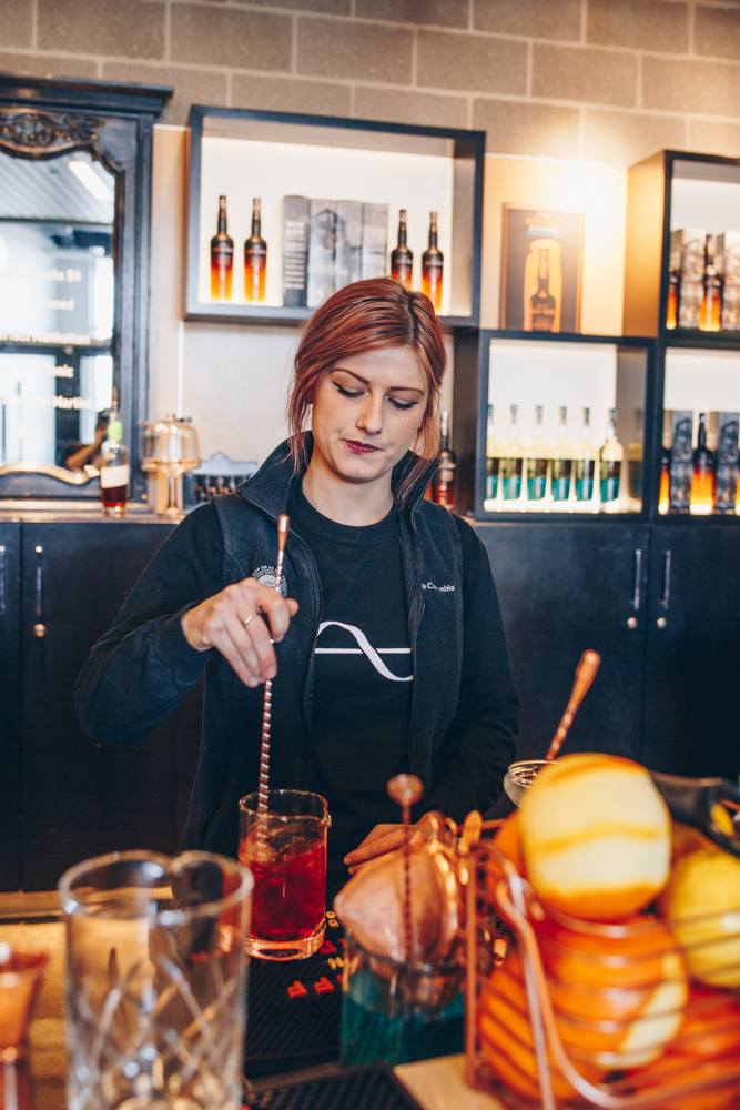 <p>New Riff has been developing spirits since it opened in 2014. Aside from visiting to try out the seasonal cocktails, you can also tour the facility or plan an event in one of its various venue spaces that can accommodate anywhere from 50-200 guests. / Image: Catherine Viox // Published: 3.25.19</p>