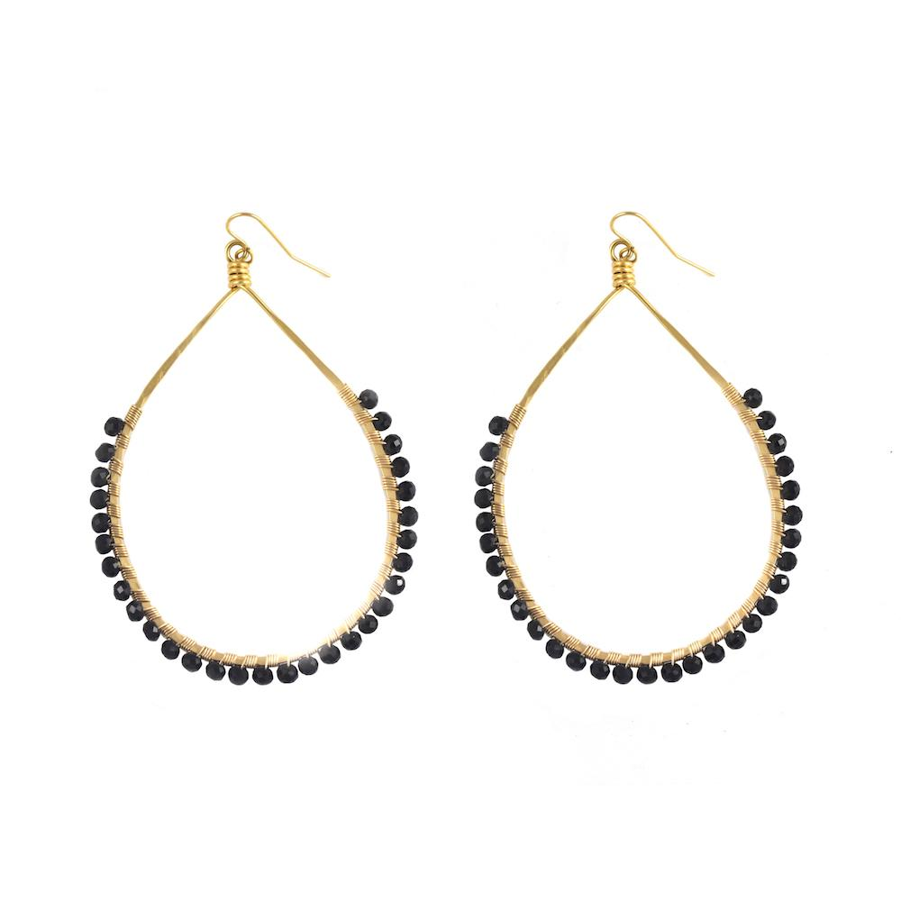 Mallory Shelter Jewelry Black Spinel Carlita Hoops // Price: $175 // Purchase at malloryshelterjewelry.com // (Photo: Mallory Shelter Jewelry)