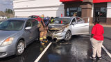 Car catches fire in Arby's parking lot; Woman, baby escape safely