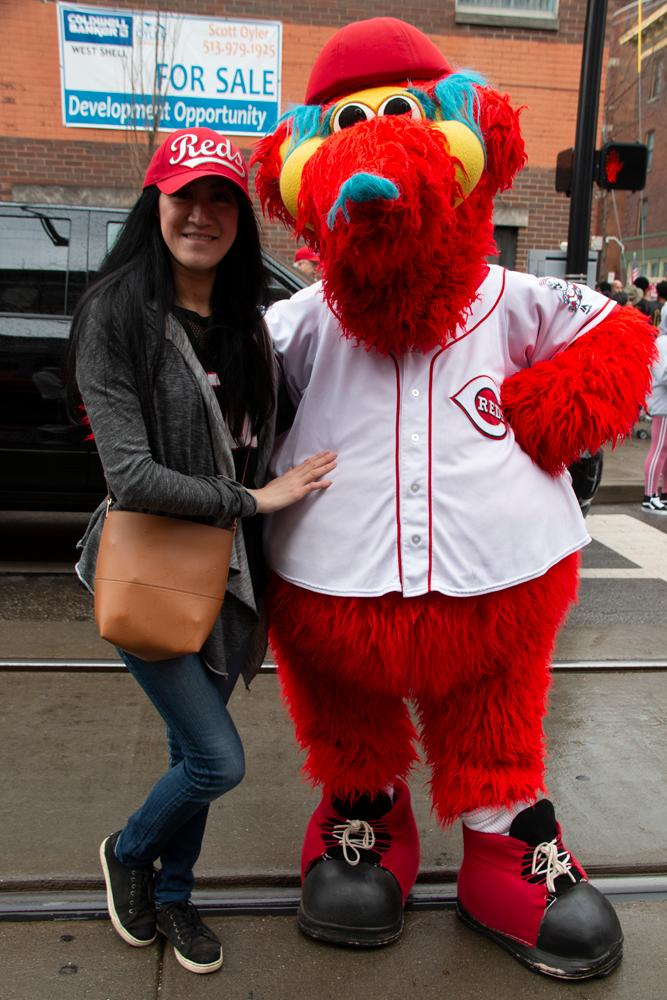 The 100th Annual Reds Opening Day Parade was held on Thursday, March 28, 2019. The parade started at Findlay Market and ended by the Taft Theatre on 5th Street. 2019 marked the 100th year for the Opening Day Parade, and the 150th anniversary of the founding of the Reds. The day ended with a 5-3 win for the Reds after they took on the Pittsburgh Pirates. / Image: Dr. Richard Sanders // Published: 3.29.18