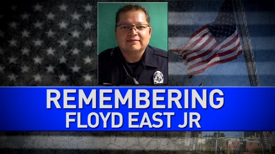 Many gathered on Oct. 17, 2017 to honor Floyd East Jr., a Texas Tech police officer who was shot and killed by a student in Lubbock. Credit: KFOX14 / CBS4