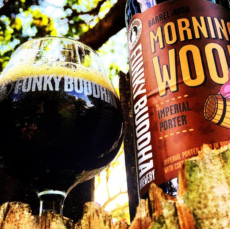 Special bottle release Morning Wood (by Eric Pugh / Funky Buddha)