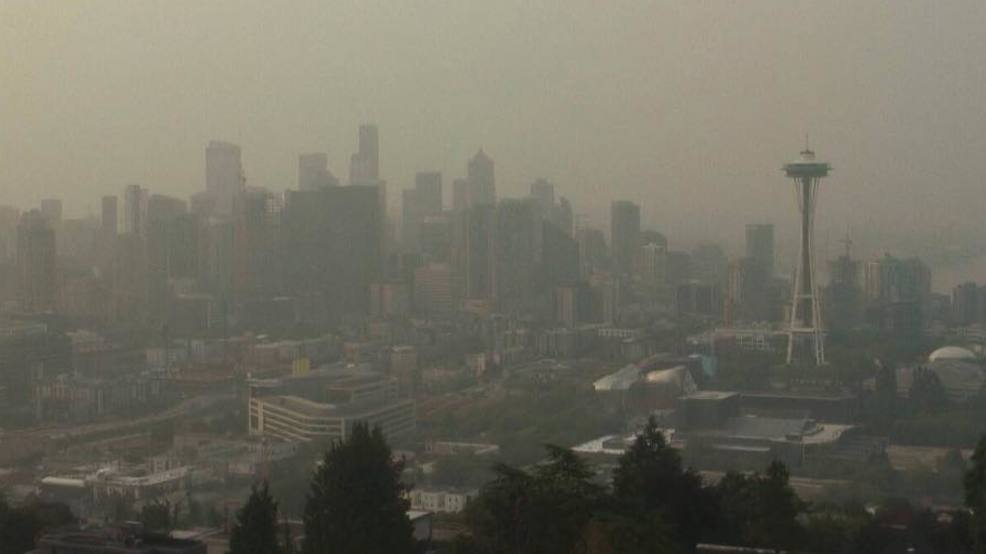 Thick wildfire smoke blankets Seattle with another gunky day on the way