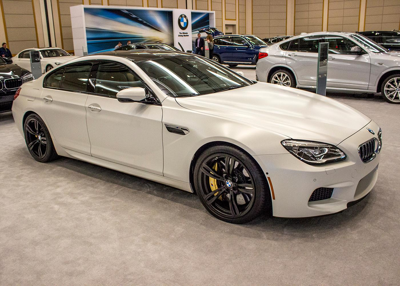 2018 BMW M6 Gran Coupe - The Portland International Auto Show began at the Oregon Convention Center on Jan. 25, 2018. The event drew prospective buyers and others who enjoyed looking at and comparing vehicles. Photo by Amanda Butt
