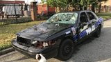 BPD: Destroyed police vehicle in city's Pigtown area is a movie prop