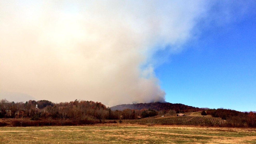 Forest Service Monday Updates On Major Western NC Fires WLOS - Us forest service fire map in tennessee