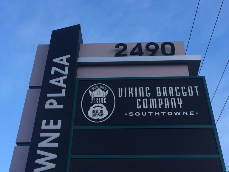 Viking Braggot Company, a local brewery crafting beer using honey in a style used by Vikings, plans to open a taproom and restaurant in the new Southtowne Plaza, built where the Southtowne Lanes Bowling alley stood on Willamette Street before a 2015 fire. The taproom should be open by mid-March. This is a second location for the business, which got started in west Eugene in 2015. (SBG)<p></p>