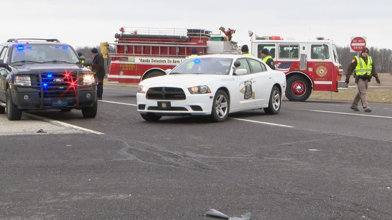 A crash on the Marhsall-Fulton county line took the life of a toddler. // WSBT 22 photo