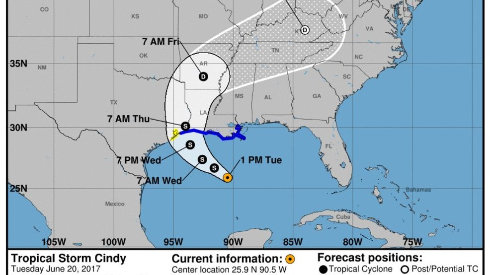 Tropical storm update in the gulf of mexico